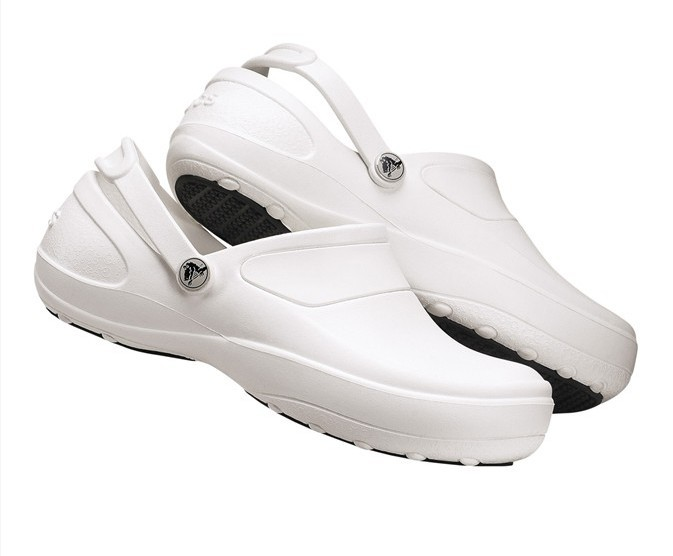 Crocs Nursing Shoes And Clogs (White); Nursing Scrubs